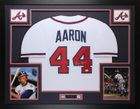 Hank Aaron Signed 35x43 Custom Framed Jersey (JSA COA) at PristineAuction.com