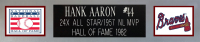 Hank Aaron Signed 35x43 Custom Framed Jersey (JSA COA) at PristineAuction.com