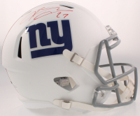 Brandon Jacobs Signed Giants Full-Size AMP Alternate Speed Helmet (Beckett COA) at PristineAuction.com
