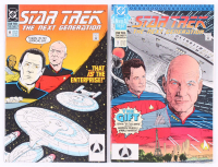 "Lot of (2) 1990 ""Star Trek: The Next Generation"" Comic Books with ""The Gift"" Issue #1, & ""The Impostor"" Issue #11 at PristineAuction.com"