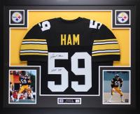 """Jack Ham Signed 35x43 Custom Framed Jersey Inscribed """"HOF 88"""" (JSA COA) at PristineAuction.com"""