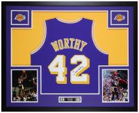 James Worthy Signed 35x43 Custom Framed Jersey (JSA COA) at PristineAuction.com