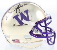 Warren Moon Signed Washington Huskies Chrome Mini Helmet (Beckett COA) at PristineAuction.com