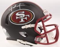 Frank Gore Signed 49ers Matte Black Speed Mini Helmet (JSA COA) at PristineAuction.com