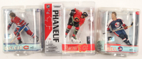 Lot of (3) NHL Action Figures Including Dion Phaneuf Action Figure, Guy Lafleur Action Figure, & Bobby Hull Action Figure at PristineAuction.com