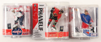 Lot of (3) NHL Action Figures Including Dion Phaneuf Action Figure, Wayne Gretzky Action Figure, & Alexander Ovechkin Action Figure at PristineAuction.com