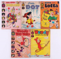 "Lot of (5) 1964-1965 Vintage Assorted Comic Books with 1964 ""Wendy Witch World"" #11, 1965 ""Little Dot"" #97, 1964 ""Wendy Witch World"" #27, 1964 ""Little Lotta In Foodland"" #6 at PristineAuction.com"