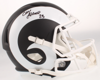 Cam Akers Signed Rams Full-Size Matte Black Speed Helmet (Beckett COA) at PristineAuction.com