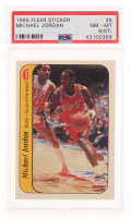 Michael Jordan 1986-87 Fleer Stickers #8 (PSA 8) (ST) at PristineAuction.com