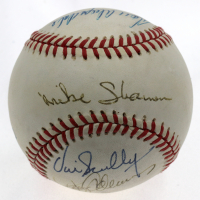 MLB Broadcasters ONL Baseball Signed by (6) with Vin Scully, Don Drysdale, Mike Shannon, Joe Buck, Jerry Coleman & Rick Monday (JSA LOA) at PristineAuction.com