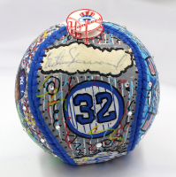 Elston Howard Signed Yankees Hand-Painted Charles Fazzino Baseball (JSA LOA) at PristineAuction.com
