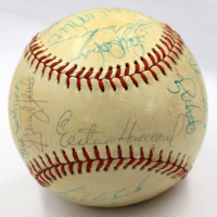 1975 Yankees OAL Baseball Team-Signed by (26) with Thurman Munson, Elston Howard, Graig Nettles (JSA LOA) at PristineAuction.com