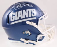 Saquon Barkley Signed Giants Full-Size Speed Helmet Beckett COA) at PristineAuction.com