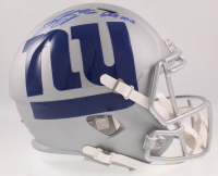 "Saquon Barkley Signed Giants Full-Size AMP Alternate Speed Helmet Inscribed ""2018 OROY"" (Beckett COA) at PristineAuction.com"