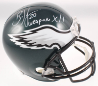 """Brian Dawkins Signed Eagles Full-Size Speed Helmet Inscribed """"Weapon X!!"""" (JSA COA) at PristineAuction.com"""