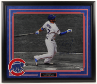 "Kris Bryant Signed Cubs 26.75x 30.5 Custom Framed Photo Display Inscribed ""2015 NL ROY"" (Fanatics Hologram) at PristineAuction.com"