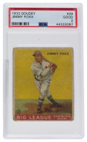 Jimmy Foxx 1933 World Wide Gum #29 (PSA 2) at PristineAuction.com
