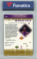 Kobe Bryant WM 2000-01 SPx Winning Materials Autograph #KBA3 (Fanatics Encapsulated) at PristineAuction.com