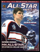 "Ray Bourque Signed 2001 All Star Game Magazine Inscribed ""19x All Star"" (Fanatics Hologram) at PristineAuction.com"