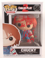 "Alex Vincent Signed ""Child's Play 2"" #56 Chucky Funko Pop! Vinyl Figure Inscribed ""Friends to the End!"" & ""Andy"" (Beckett COA) at PristineAuction.com"