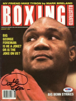 George Foreman Signed 1990 Boxing Illustrated Magazine (PSA COA) at PristineAuction.com