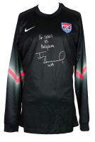 "Tim Howard Signed Team USA Nike Soccer Jersey Inscribed ""16 Saves VS Belgium"" & ""USA"" (JSA COA & Howard Hologram) at PristineAuction.com"