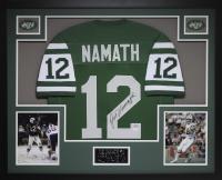 Joe Namath Signed 35x43 Custom Framed Jersey (JSA COA) at PristineAuction.com
