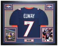 John Elway Signed 35x43 Custom Framed Jersey (Beckett COA) at PristineAuction.com