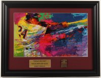 "LeRoy Neiman ""The Say Hey Kid"" 15.5x20 Custom Framed Print Display with Official Solid Brass Hall of Fame Plaque at PristineAuction.com"