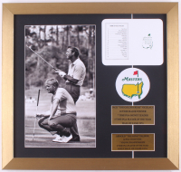 """Jack Nicklaus & Arnold Palmer """"The Masters"""" 16.5x18.5 Custom Framed Photo Display with Official Augusta National Scorecard & Masters Patch at PristineAuction.com"""