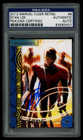 Stan Lee Signed 2013 Marvel Fleer Retro #8 Cyclops (PSA Encapsulated) at PristineAuction.com