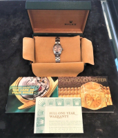Rolex Oyster Perpetual Women's Wristwatch with Box & Papers at PristineAuction.com
