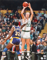 Magic Johnson & Larry Bird Signed 16x20 Photo (PSA COA & Bird Hologram) at PristineAuction.com
