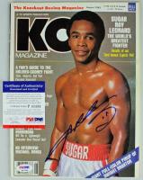 Sugar Ray Leonard Signed 1982 Knockout Boxing Magazine (PSA COA) at PristineAuction.com