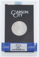 1884-CC Uncirculated Morgan Silver Dollar with GSA Holder (NGC MS63) at PristineAuction.com