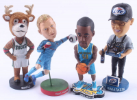 Lot of (4) Assorted Sports Bobbleheads With Emeka Okafor, Kevin Hartman, Bango Mascot & White Sox Miller Lite at PristineAuction.com