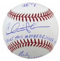 "Charlie Sheen, Corbin Bernsen & Tom Berenger Signed ""Major League"" OML Baseball Inscribed ""Strike This Mother F***** Out"", ""Taylor"" & ""Dorn"" (Beckett COA) at PristineAuction.com"