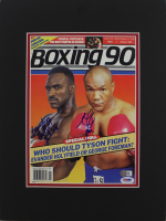George Foreman & Evander Holyfield Signed 11x17 Custom Matted 1990 Boxing Magazine Display (PSA COA) at PristineAuction.com