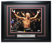 Anderson Silva Signed 16x20 Custom Framed Photo (PSA COA) at PristineAuction.com
