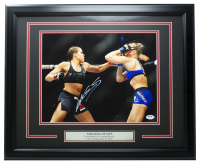 Amanda Nunes Signed 16x20 Custom Framed Photo (PSA COA) at PristineAuction.com