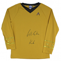 "William Shatner Signed Uniform Shirt Inscribed ""Kirk"" (Beckett COA) at PristineAuction.com"