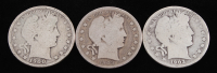 Lot of (3) Barber Silver Half Dollars with 1900, 1903-S, & 1903 at PristineAuction.com