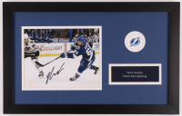Yanni Gourde Signed Lightning 14x22 Custom Framed Photo (JAG Hologram) at PristineAuction.com