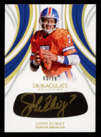 John Elway 2019 Immaculate Collection Immaculate Careers Autographs #19 at PristineAuction.com