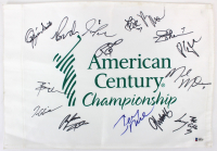 American Century Championship Flag Signed By (15) With Jerry Rice, John Smoltz, Ozzie Smith, Larry The Cable Guy, Brian Urlacher (Beckett LOA) at PristineAuction.com