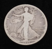 1916-D Walking Liberty Silver Half Dollar at PristineAuction.com