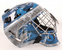 Jets Goalie Helmet Signed By (13) With Patrik Laine, Blake Wheeler, Mark Scheifele, Dustin Byfuglien (JSA COA) at PristineAuction.com