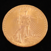 1928 $20 Saint-Gaudens Double Eagle Gold Coin at PristineAuction.com