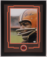 Jim Brown Signed Browns 18x22 Custom Framed Photo Display (JSA COA) at PristineAuction.com