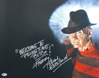 "Robert Englund Signed ""A Nightmare On Elm Street"" 16x20 Photo Inscribed ""Freddy"" & ""Welcome To Primetime B****"" (Beckett COA) at PristineAuction.com"